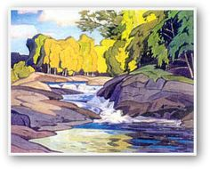 A.J. Casson  Rapids On The Magnetawan