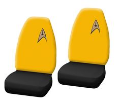 Star Trek Delta Logo High Back Bucket Seat Cover