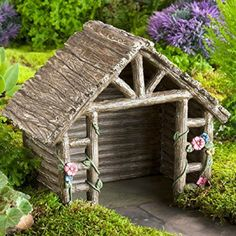 Garden Shed. www.teeliesfairygarden.com . . . This garden shed is brilliant! The farmer fairies would be delighted to have it in your farm-themed garden! They can take shelter from the heat of the sun in the middle of the day. Wonderful, isn't it? #fairyshed