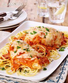 Spicy Tomato-Chicken Parmesan #recipe