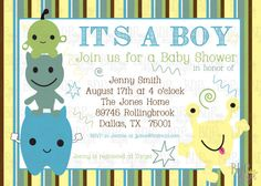 Customizable Cocalo Peek a Boo Monster Baby Shower by BDPDesigns, $12.00