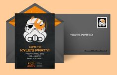 List of Star Wars party ideas: Free personalized Stormtrooper digital invitations from Punchbowl