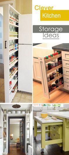 Clever Kitchen Storage Ideas!