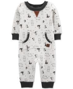 Meow Cat Face Baby Boys Or Girls 100/% Organic Cotton Romper Pajamas 0-24M