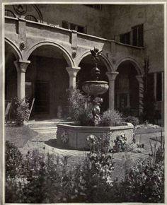 Spanish style courtyard fountain