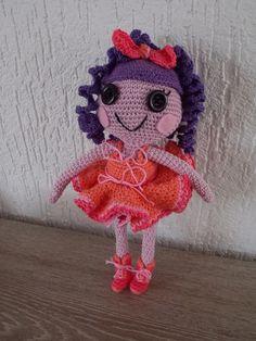 Pop à la Lalaloopsy (met link naar gratis patroon) / Lalaloopsy like doll (with link to free pattern)