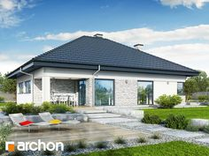 Dom w renklodach 2 House Layout Plans, House Layouts, House Plans, House 2, Planer, Gazebo, Architecture Design, Sweet Home, Outdoor Structures