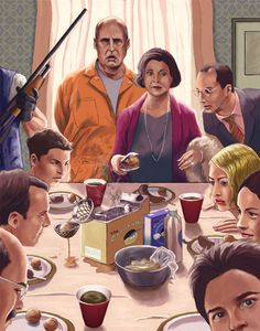 ✯ Arrested Development's The Bluth Family .. Illustrated byCuyler Smith✯