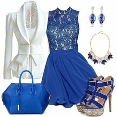 Blue outfit and accessories