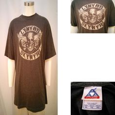 Lynyrd Skynyrd Gray Short Sleeve Men's XL T-Shirt Cotton Poly Alstyle Apparel #AlstyleApparel #GraphicTee