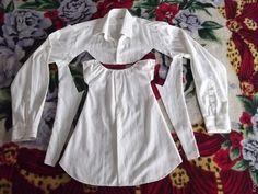 Детское платье из рубашки. Мастер-класс.... фото #2 Toddler Dress, Baby Dress, Diy Clothes Design, Old Shirts, T Shirt Diy, Diy Clothing, Baby Girl Fashion, Sewing For Kids, Kids Wear