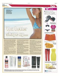 The #Plymouth #Herald in the UK with #BodyShaper #Cellulite Contour Creme #Skincare