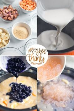 Binignit is a colorful, creamy, milky and hearty Filipino dessert that is a mix of taro, ube, bananas, sweet potatoes and bright tapioca pearls and sugar. This delicious and healthy dessert is perfect for thanksgiving gatherings!