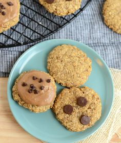 Vegan Peanut Butter Banana Breakfast Cookies from Fit Foodie Finds