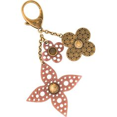 Pre-owned Louis Vuitton Rock Flower Bag Charm ($350) ❤ liked on Polyvore featuring accessories, gold and louis vuitton