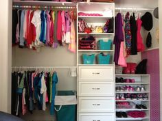 Room redo part 2! Kid's closet organization has allowed me to get rid of her dressers.