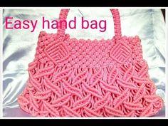 How to make macrame bag tutorial in hindi Learn To Crochet, Easy Crochet, Crochet Baby, Micro Macramé, Macrame Purse, Macrame Knots, Crochet Crocodile Stitch, Purse Tutorial, Diy Handbag