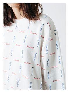 SQUARE SLOGAN Sweatshirt