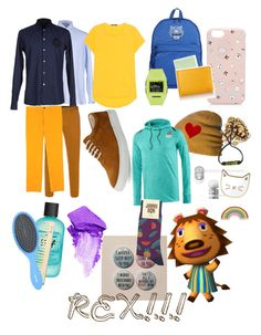 """REX!!!"" by rippling-specter ❤ liked on Polyvore featuring art and animalcrossing"