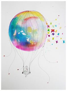 hot air balloon watercolor - Google Search