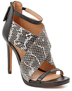 "VC Signature by Vince Camuto ""Sarita"" Leather Heeled Sandal"