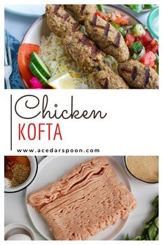 Chicken Kofta is the perfect Mediterranean meal that you can eat on its own, in a pita sandwich, hummus or rice bowls. Ground chicken is mixed with fresh herbs, warm spices, garlic, onion and breadcrumbs to create a delicious kebab. You can easily grill, bake or cook these on a skillet. A Food, Good Food, Yummy Food, Easy Weeknight Dinners, Easy Meals, Healthy Dinner Recipes, Easy Recipes, Ground Chicken, Dessert For Dinner