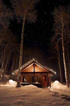 cabin in snowy.  I reallllllllllllllllllly want to be there