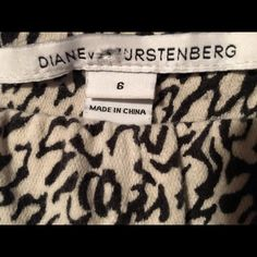 Diane von Furstenberg Capris Black and white design.  Size zipper closure. Gently used.  Please let me know if you'd like additional pictures. This is my first Poshmark listing, so please share and let's follow each other's closets. Diane von Furstenberg Pants Capris #dianevonfurstenberg