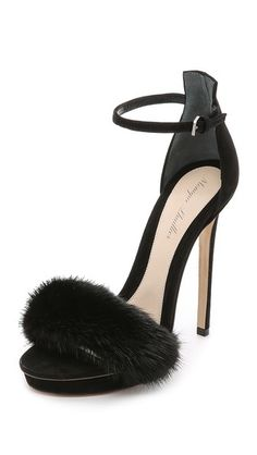 Monique Lhuillier Marlowe Fur Sandals, available here: rstyle.me/~8NBd1