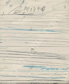 1/30/16 Cy Twombly drawing 1971 UNTITLED - Sotheby's, Londres