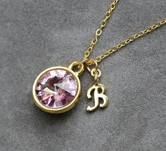 Initial Birthstone Jewelry June Alexandrite by SprigJewelry, $32.00