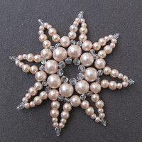 Zboží prodejce renda39 / Zboží   Fler.cz Bead Art, Snowflakes, Beading, Brooch, Stars, Christmas, Jewelry, Xmas, Beads