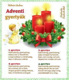 Christmas Poems, Kids Christmas, Holidays And Events, Ale, Candles, Table Decorations, Home Decor, Facebook, Children