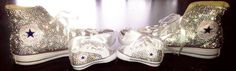 Mommy and me converse, blinged converse, swarovski converse, custom converse, wedding converse, flower girl shoes, baby bling converse by AllureDesignz on Etsy