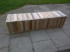 Handmade Rustic Storage Bench with Hinged by TimberWolfFurniture