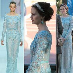 Leighton Meester (as Blair Waldorf) Wearing Ellie Saab Haute Couture In Gossip Girl Set. Alter Ego