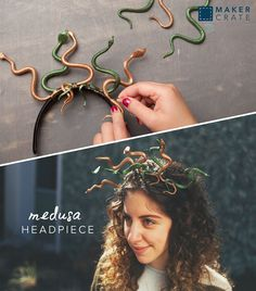 Medusa Headpiece - some over-the-top creep! | Maker Crate #halloween #diy # craft