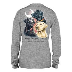 Youth All Dogs Long Sleeve T-Shirt Simply Southern Shirts, Preppy Southern, Preppy Brands, Unisex Fashion, Long Sleeve Shirts, Shirt Designs, Youth, Dog Jewelry, Dogs