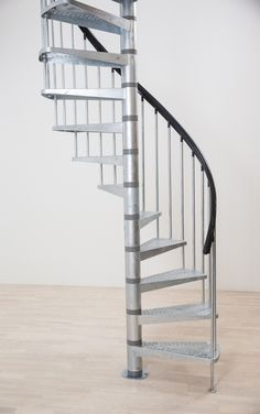 Dolle Toronto V3 Spiral Stair Kit -- Available in 2 diameters: 1250mm & 1550mm. Standard kit comes complete with 11 treads plus a landing tread to suit a floor height up to 2820mm. Heights up to 3995mm can be achieved with the use of additional tread kits. Unit has galvanised steel treads, steel centre column and a fixed steel balustrade (PVC handrail) # From £810.00 + VAT