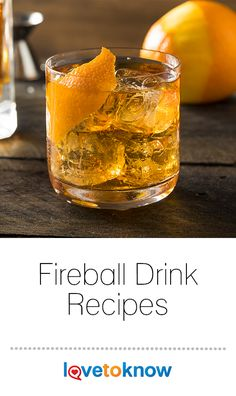 Fireball whisky is an exciting cocktail ingredient because its so versatile. With is strong cinnamon flavor and sweetnes Fireball Mixed Drinks, Whiskey Mixed Drinks, Fireball Cocktails, Fireball Recipes, Whiskey Recipes, Alcohol Drink Recipes, Cocktail Drinks, Cocktail Recipes, Amigurumi