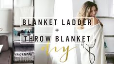 Blanket ladders are an amazing way to store your blankets and show them off  at the same time. Sometimes couches can get weighed down with a million  blankets so why not tidy up while gaining some awesome room décor at the  same time?