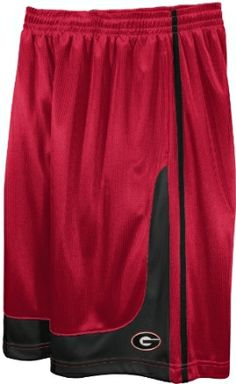 NCAA Men s Georgia Bulldogs Fast Break Hoop Short With Draw Cord (Athletic  Red True 88ab5b3d7
