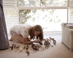 This is what I looked like when I was younger! I never wanted to play with Barbies, just horses =)
