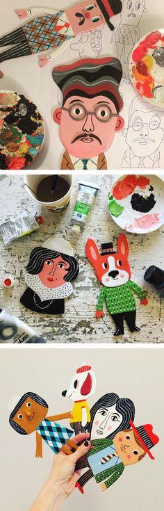 Clay figures by Ingela Arrhenius #clay #illustrationart #characterdesign