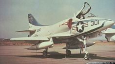 "At the end of Korean War, the ""Albino Angels"" aerobatic team was formed flying four standard painted A-4D Skyhawk aircraft from the US NAVY's VA-113 Squadron. The instigator of the team was former Blue Angels leader, CDR ""Zeke"" Cormier.The ""Albino Angels"" first and only displays occurred on 9 ..."