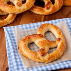 Aunt Annie's Pretzels copycat recipe -  2 cups milk (I used 2%) 1 1/2 Tbsp active dry yeast (2 packets) 6 Tbsp packed light-brown sugar 4 Tbsp butter, at room temperature   Recipes 4 1/2 cups all-purpose flour, plus an up to an additional 1/2 cup as needed 2 tsp fine salt 1/3 cup baking soda   Recipes 3 cups warm water coarse salt, to taste 6 Tbsp butter, melted Dipping sauce for serving, optional*