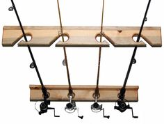 Fishing Pole Rack | 4 Wall or Ceiling