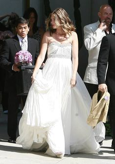 """Rhea Durham in MARCHESA for her wedding! How I'd love to say """"I do"""" in a dress like this!"""