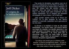 El enigma de la habitación 622. Joël Dicker. EduRead: #RecomiendoLeer @davidgscom Event Ticket, Movie Posters, Riddles, Book Reviews, Recommended Books, Writers, Film Poster, Film Posters