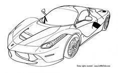 19 En Iyi Ferrari Coloring Pages Görüntüsü 2019